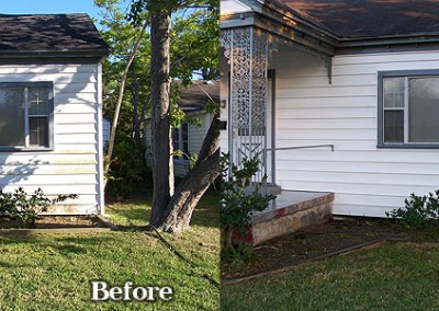 White Vinyl Siding House Washing Corpus Christi 1