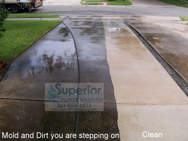 Photo gallery superior power washing for Cement driveway cleaner