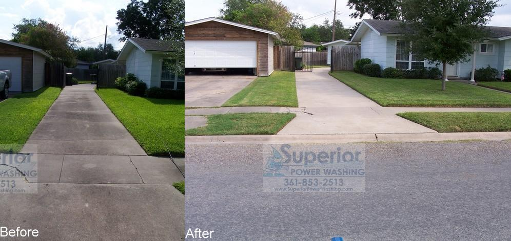 Photo gallery superior power washing for Concrete driveway cleaner