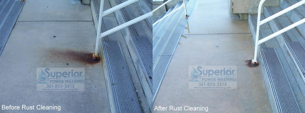 Photo gallery superior power washing for Clean rust off concrete patio